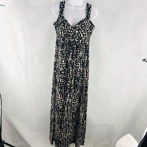 NY Collection Black White Maxi Dress M